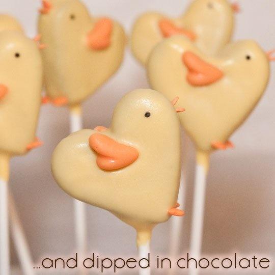 chicks brownie pops