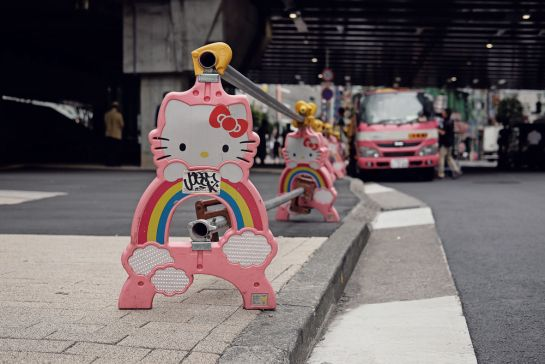 Japan, Travel, Vacation, City, Lights, Streets, Hello Kitty