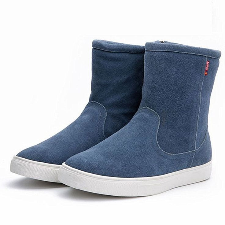 2016 New Arrival Winter Shoes Men Boots Cow Suede Snow Boots Fashion Mid-Calf Winter Boots For Men With Fur Big Size Mens Shoes