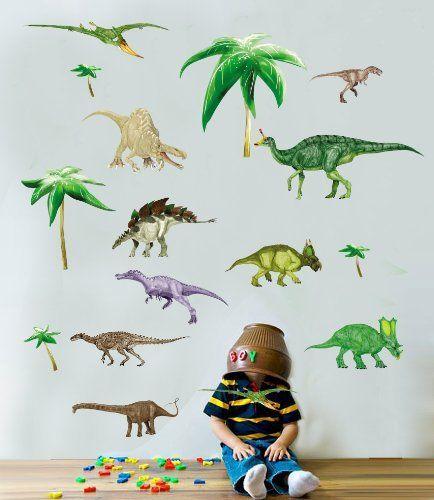 Dinosaurier   Jungen   Kinder   Kinderzimmer   Schlafzimmer   Wand Sticker  50 X 70cm Blatt