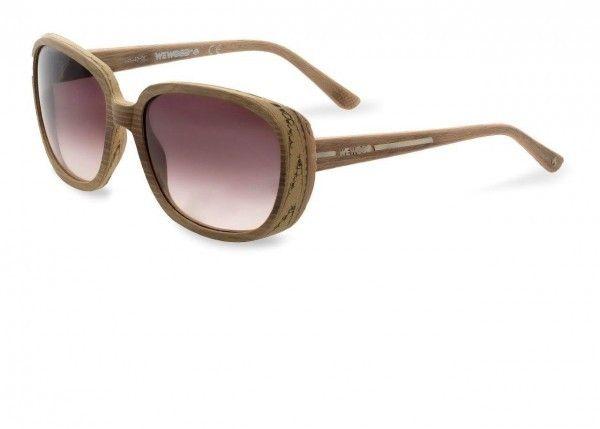 Lyra Oak 15 Gold / Brown Gradient Baumwoll-Holzsonnenbrille