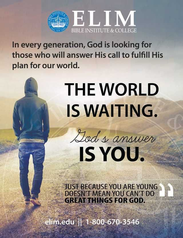 ELIM Bible Institute and College: The World Is Waiting-God's Answer Is You.  The Old Schoolhouse Magazine - Spring 2016 - Page 136 http://www.thehomeschoolmagazine-digital.com/thehomeschoolmagazine/2016x2?pm=1&u1=texterity&linkImageSrc=/thehomeschoolmagazine/2016x2/data/imgpages/tn/0117_hvvwdw.gif/&pg=139#pg139