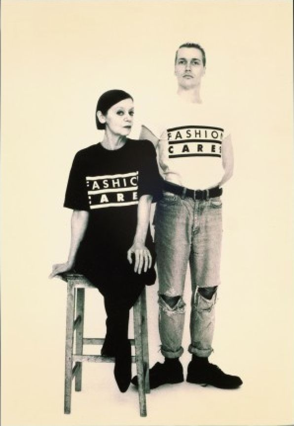 'FASHION CARES' organization supporting the fight against AIDS 1987