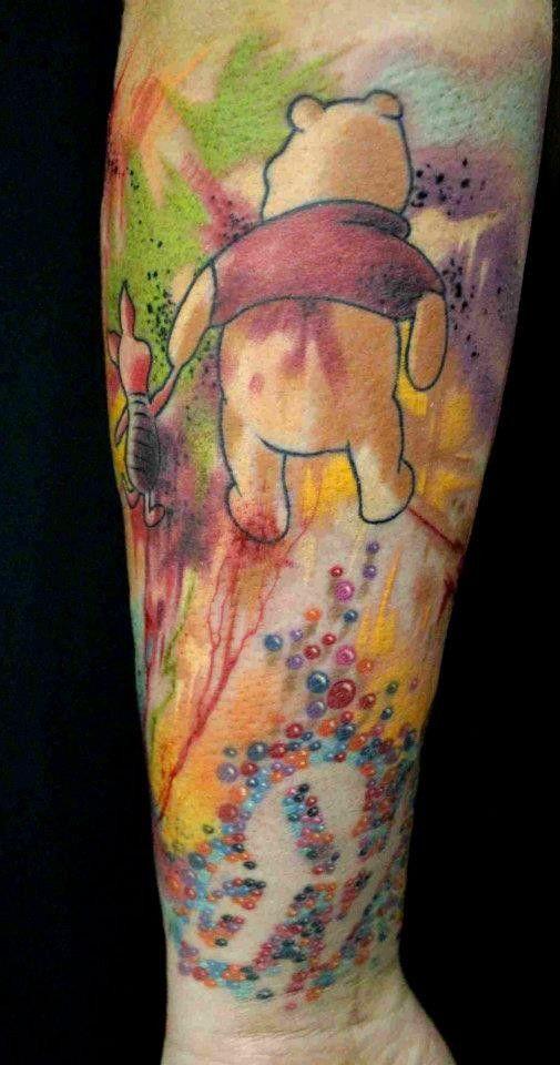 Cleanfun abstract tattoo what i love winnie the pooh for Winnie the pooh tattoo