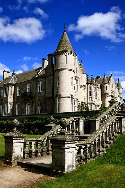 Balmoral Castle, Scotland. Large estate house in Royal Deeside, Aberdeenshire, Scotland near Balmoral. Balmoral has been one of the residences of the British Royal Family since 1852, when it was purchased by Prince Albert, consort to Queen Victoria. As it was not purchased by the Queen no revenues from the estate go to Parliament and to the public purse as would be the case, in accord with the 1760 Civil List Act, for property owned outright by the Queen. X