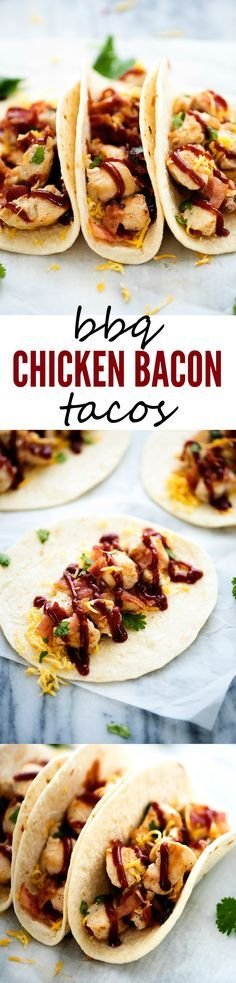 These BBQ Chicken Tacos are packed with flavor!