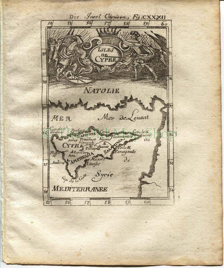 1719 Manesson Mallet Antique Map Isles de