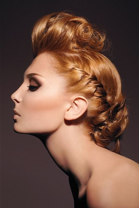 Her neck is amazing!   Easy Party Hairstyle Ideas.