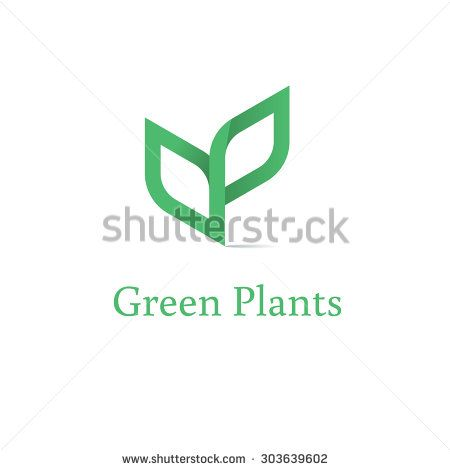 Sprout mockup eco logo, green leaf seedling, growing plant. Abstract design concept for eco technology theme. Ecology icon. - stock vector
