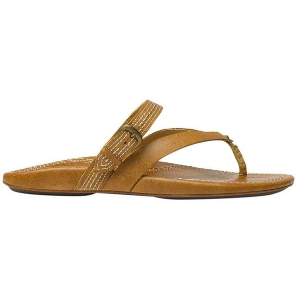 Olukai U'I Flip Flop ($90) ❤ liked on Polyvore featuring shoes, sandals, flip flops, olukai flip flops, beach shoes, olukai sandals, hawaiian flip flops and olukai