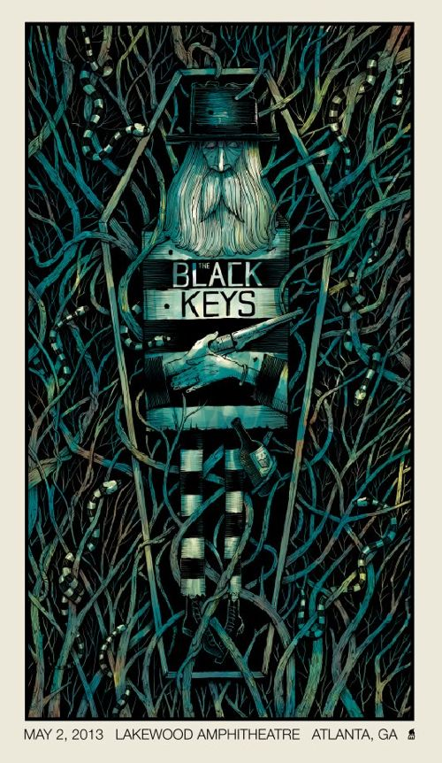 The Black Keys Gig Poster you could easily substitute  the Black Eyed peas.