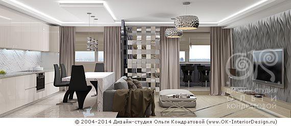 Дизайн кухни-гостиной http://www.ok-interiordesign.ru/blog/sovremenny-dizayn-kuhni-gostinoy.html