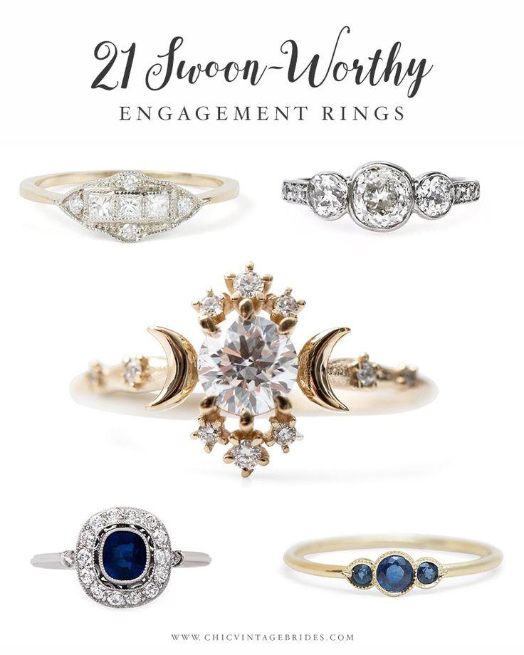 21 Swoonworthy Engagement Rings
