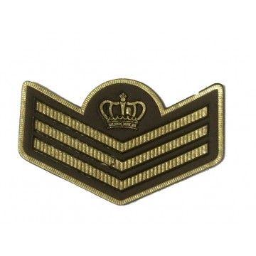 écusson militaire emblème couronne  motif militaire