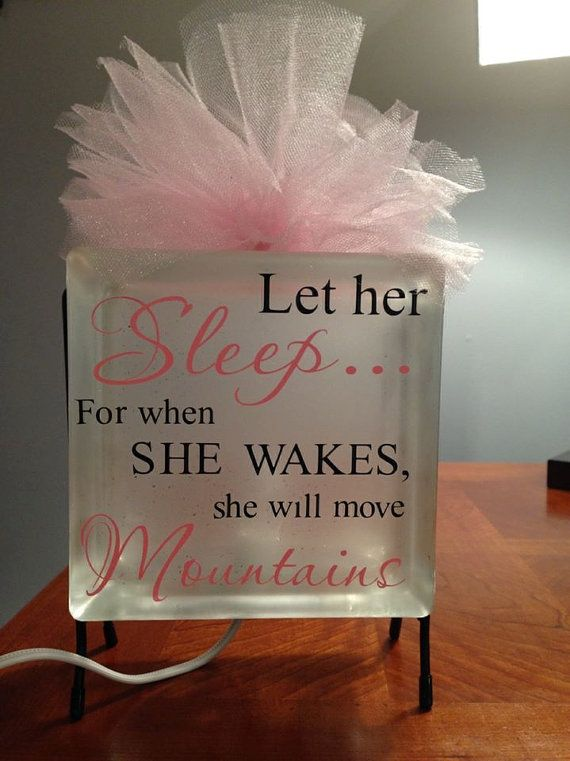 Lighted Glass Block Girls Room Decor by ShilohsGiftsandMore, $30.00