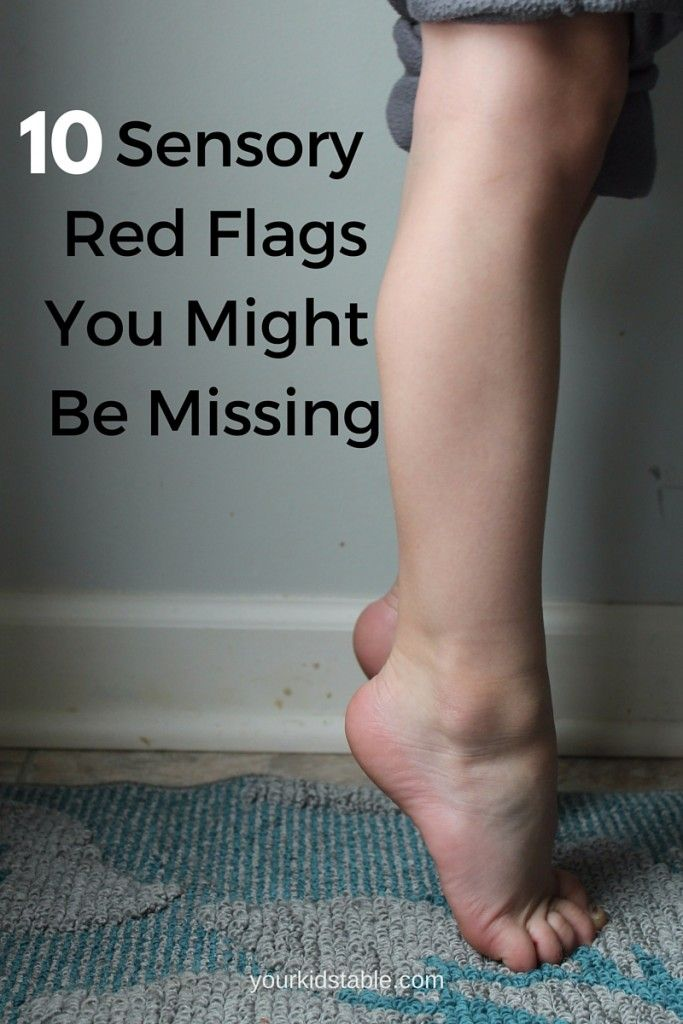 Sensory Red Flags you might be missing- great information on sensory processing differences from an occupational therapist
