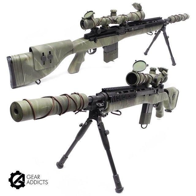 Our custom M14 DMR from @gpairsoft #gpairsoft #m14 #dmr #airsoft #airsoftgun…