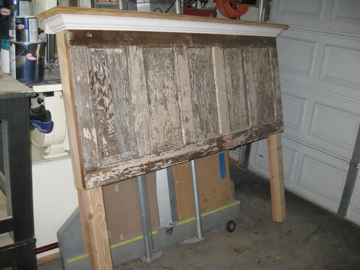 how to make a king headboard from a door 2