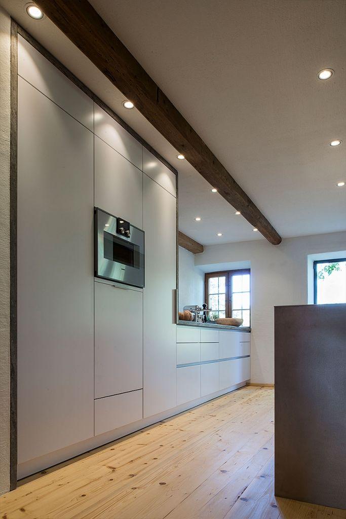 Moderne Decken Spot Leuchten In Offener Küche Gaggenau