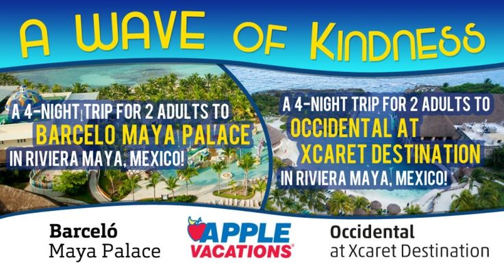 Tune in Monday morning to see who the grand prize winner is! Will it be you? @applevacations
