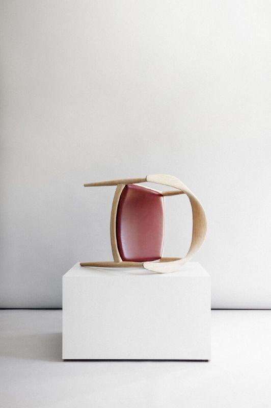 The Chair by Hans J. Wegner / PP Møbler. Sorensen Leather: Elegance / Indian Red. Photo: Jonas Bjerre-Poulsen / #NORMarchitects #hanswegner  #ppmobler #sorensenleather