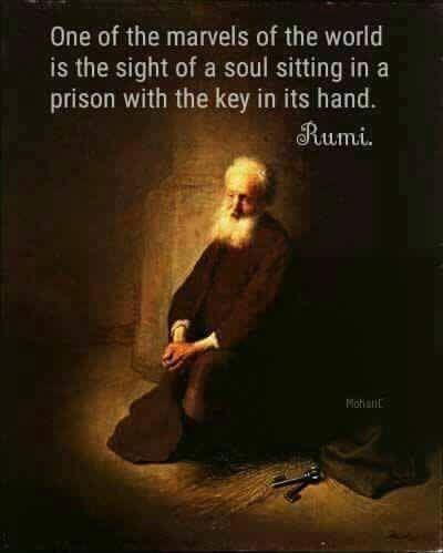 Rumi. Sad, very true quote.
