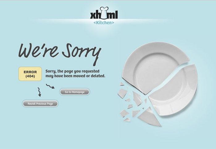 404 error creative error page broken plate
