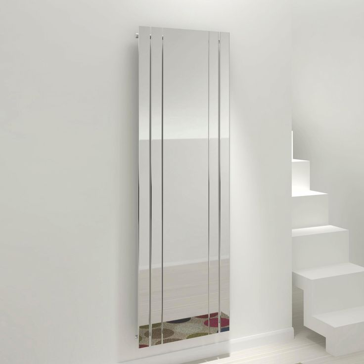 Kudox Tova Mirror Vertical Radiator Chrome (H)1800 Mm (W)600 Mm