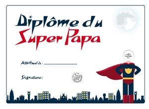 Le diplome du super papa - Les coloriages pour la fête des pères - momes.net