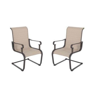 Hampton Bay Belleville Patio Dining Chair (2 Pack) FCS80198 2PK