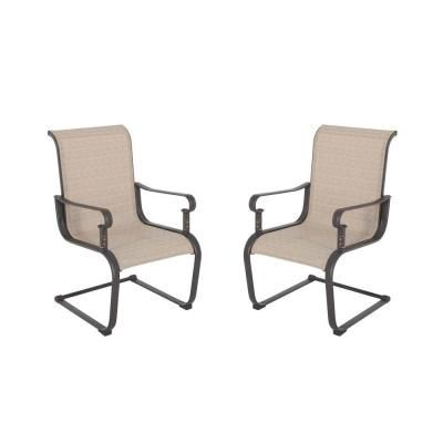 Hampton Bay Belleville Patio Dining Chair 2 Pack Fcs80198 2pk The Home Depot 139 For 2