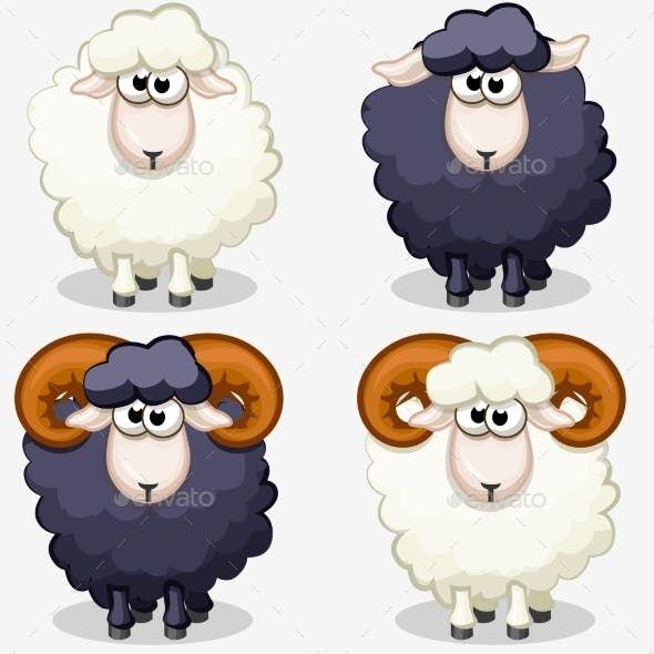 Cartoon Black And White Sheep Sheep Cartoon Sheep Illustration Sheep Drawing
