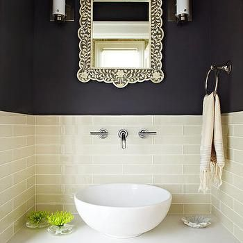 Bone Inlay Mirror, Eclectic, bathroom, W. David Seidel
