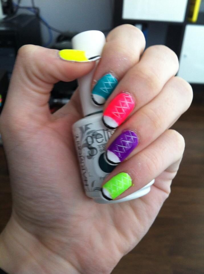 Neon running shoe nails by S.Doherty