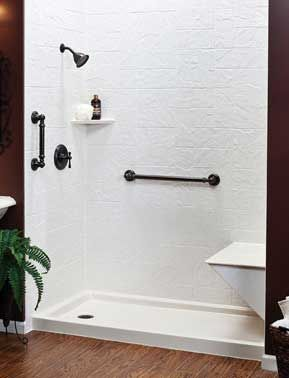 If find yourself having trouble climbing over that high-sided bathtub wall to take a shower, then you need a tub-to-shower conversion from Community Builders! One of our most popular bathroom remodel designs, they provide a great way to update your under-used bath into an easy to enter shower.