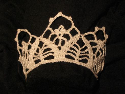 crochet bridal crown, virkad brudkrona 3