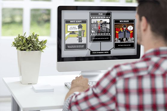 Create storyboards without a storyboard artist! Screenwriters, teachers, students, businesses all love Storyboard That, an easy online storyboard & comic creator