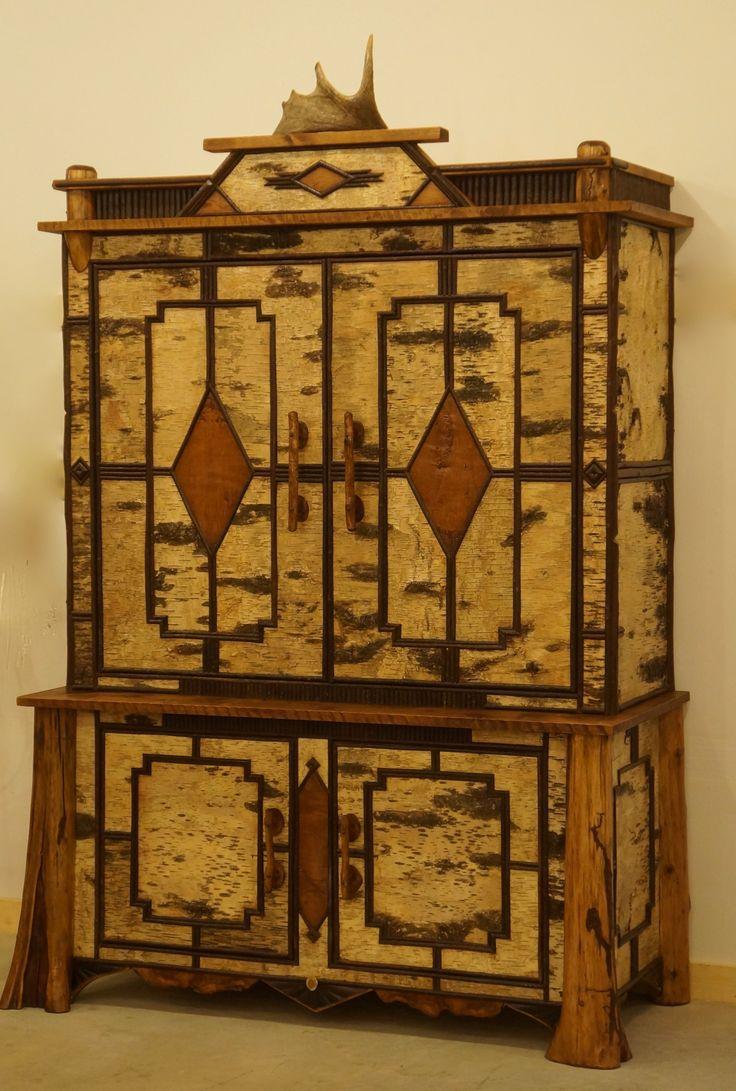Rustic cabin furniture - Www Lpostrustics Com Adirondack Rustic Tv Cabinet In Birch Bark And Twig Cabin Furniturerustic Furniturepainted Furniturelodge