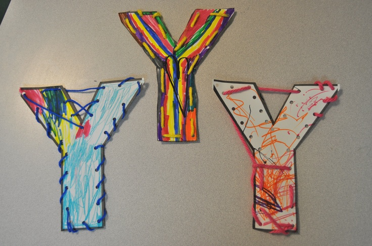 Preschool Letter Y Yarn Craft
