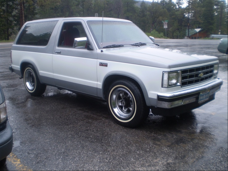 1985 Chevrolet S10 Blazer. I was a huge fan of the original, uncomplicated, underpowered S10 Blazer. Fuel-efficient and generally well-designed, it was a great truck until Chevy started blowing it up, stuffing bigger motors in it, and adding doors.