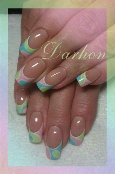 6106 Best Images About Funky French Tip Nails On Pinterest Halloween Nails Nailart And Nail Nail