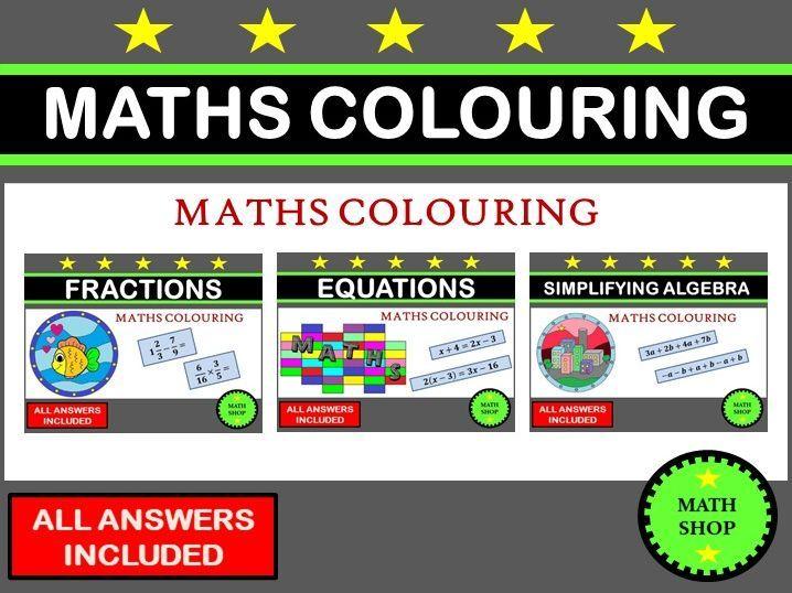 Maths Colouring Bundle Math Coloring Math Coloring Worksheets Math