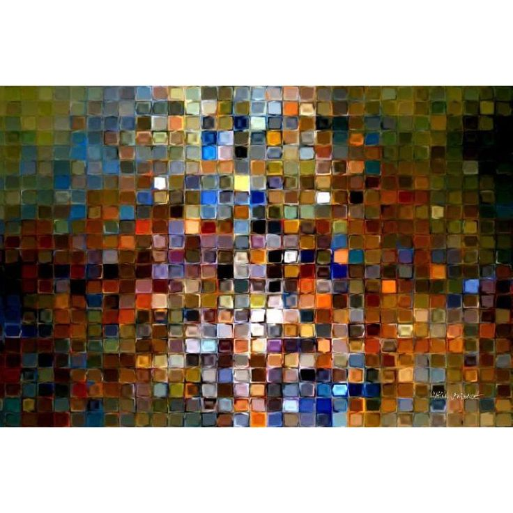 Modern Mosaic Tile Art Gallery Wred Canvas Products Pinterest And