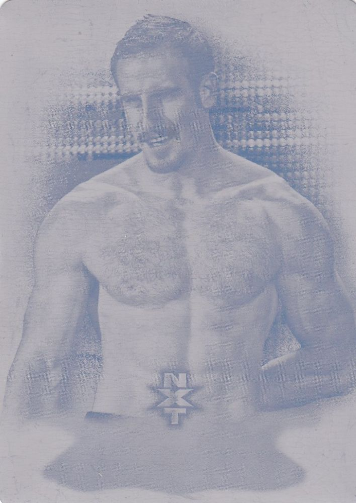 AIDEN ENGLISH 2015 Topps WWE Undisputed NXT Prospect Magenta PRINTING PLATE 1/1