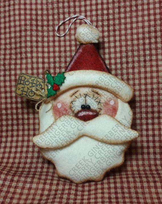 Santa ver ornamento patrón 245 muñeca por GingerberryCreek en Etsy