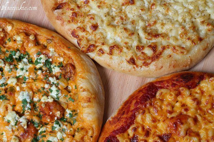 Macaroni & Cheese Pizza. Three Flavors: Regular (with tomato sauce ...
