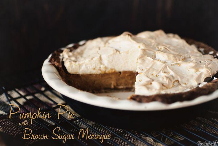 Pumpkin Pie with Brown Sugar Meringue via @Kita Roberts