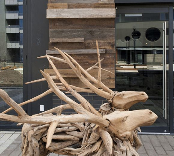 POINTE-NORD | Montreal | Architecture | Interior Design | Evolo | Residential | Exterior | Artwork | Art | Wood Carving | Sculpture