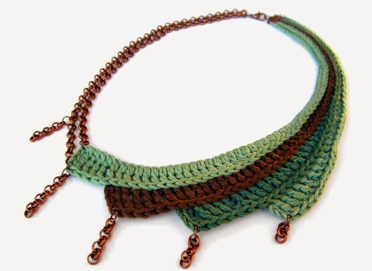 Asymmetric crocheted statement necklace - GiadaCortellini                                                                                                                                                     More