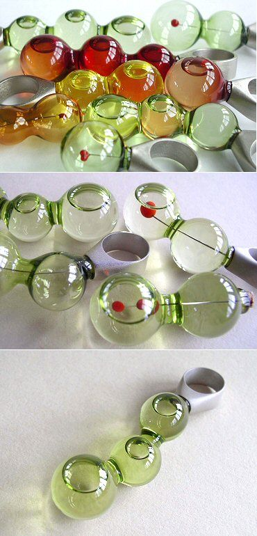 Bubbles of oil inside bubbles of glass? Alena Hesounová is a genius. If this isn't enough to convince you, check out her other collections!